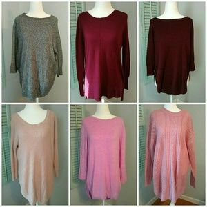 CLOSET CLEAN OUT TUNIC SWEATER BUNDLE